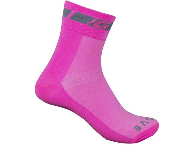 GripGrab Hi-Vis Chaussettes, pink hi-vis